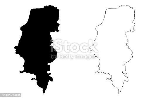 istock Porto Alegre City (Federative Republic of Brazil, Rio Grande do Sul State) map vector illustration, scribble sketch City of Porto Alegre map 1262689094