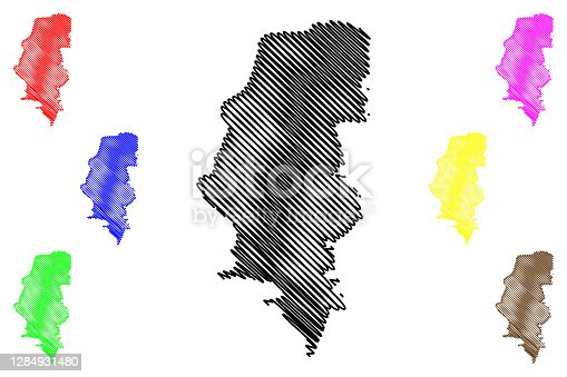 istock Porto Alegre City (Federative Republic of Brazil, Rio Grande do Sul State) map vector illustration, scribble sketch City of Porto Alegre map 1284931480