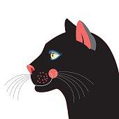 Portrait Black panther