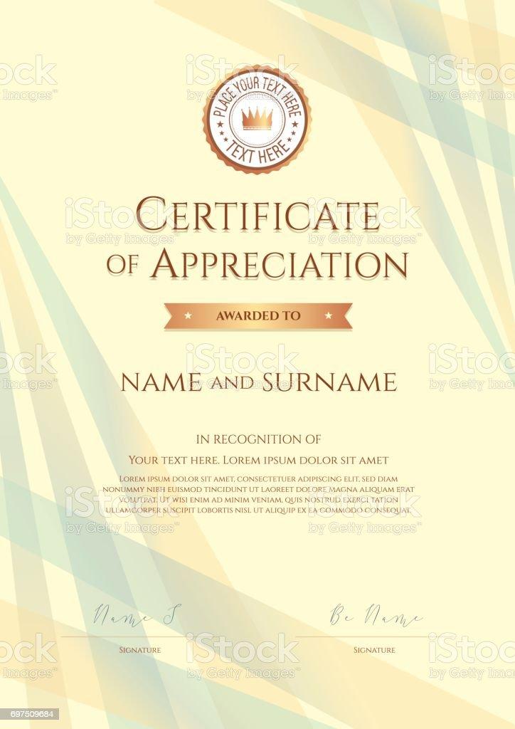 background certificate of appreciation