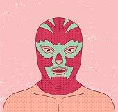 Lucha portrait. Editable vector Eps8 file.