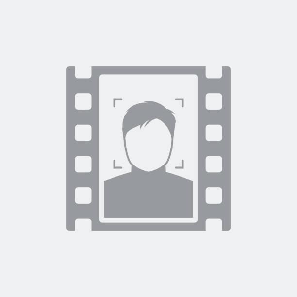 ilustrações de stock, clip art, desenhos animados e ícones de portrait film frame - tape face