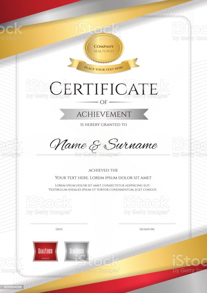 Portrait Luxury Certificate Template Diploma Design For ...