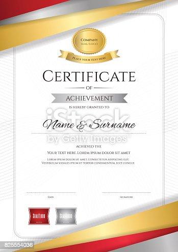 Portrait Luxury Certificate Template Diploma Design For ...