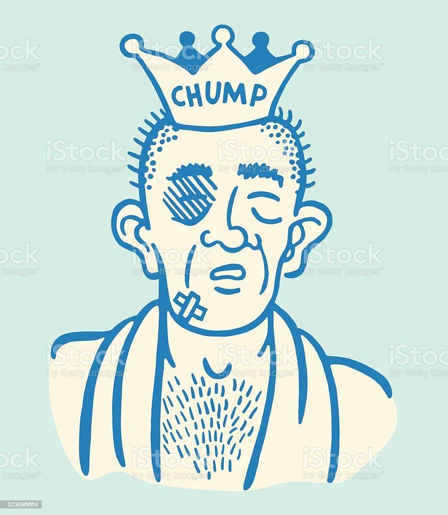 Portrait of a Chump vector art illustration