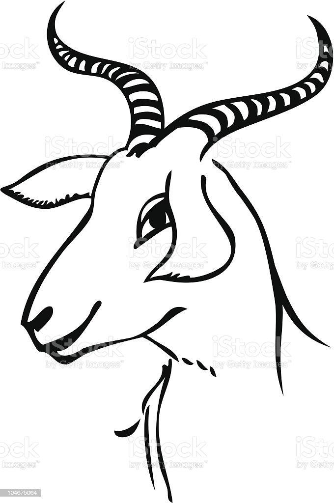 Ilustración de Retrato De Cabra y más banco de imágenes de Animal ...