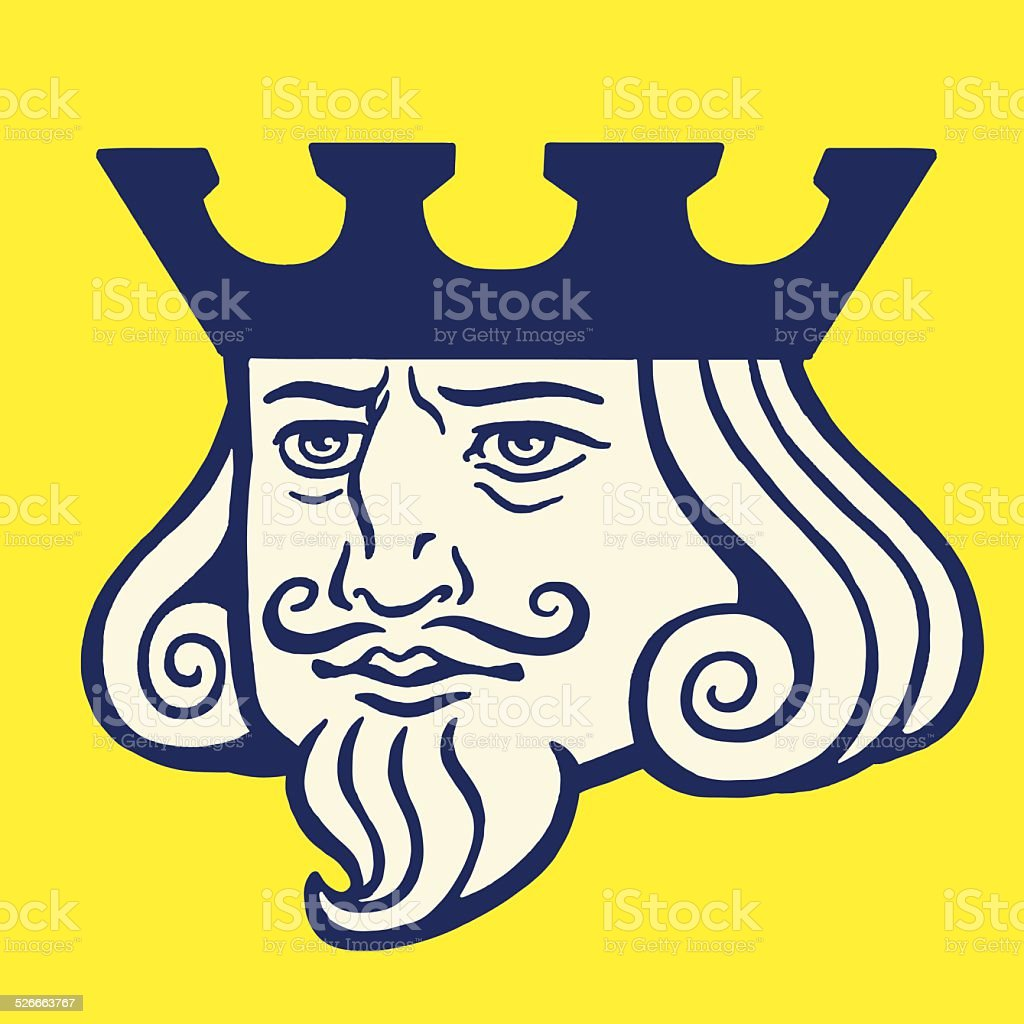 Portrait of a King vector art illustration