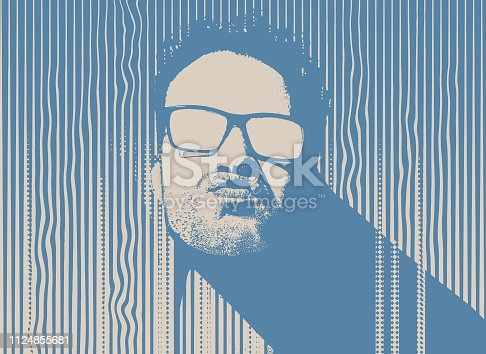 istock Portrait of a male gangster 1124855681