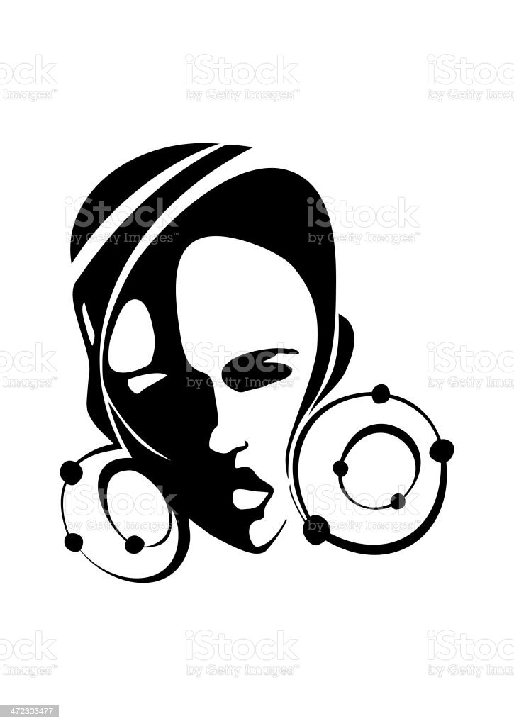 Portrait of a young African woman royalty-free portrait of a young african woman stock vector art & more images of adult