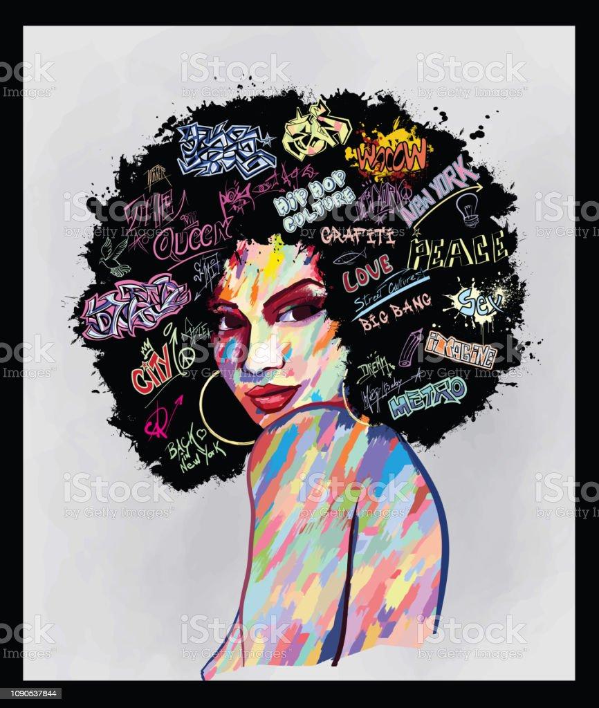 Retrato de un rostro de mujer ilustración de retrato de un rostro de mujer y más vectores libres de derechos de a la moda libre de derechos
