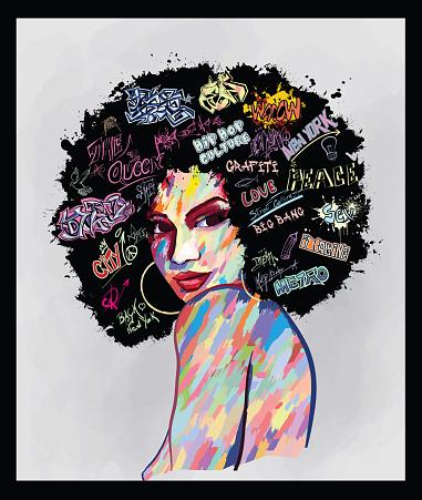 Ilustración de Retrato De Un Rostro De Mujer y más Vectores Libres de Derechos de A la moda