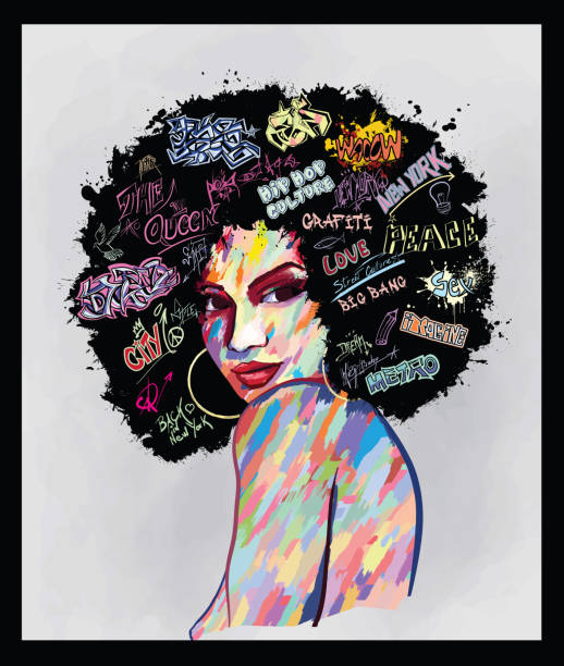 ilustraciones, imágenes clip art, dibujos animados e iconos de stock de retrato de un rostro de mujer - moda de mujer