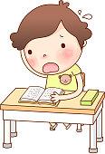 Portrait of Boy studying