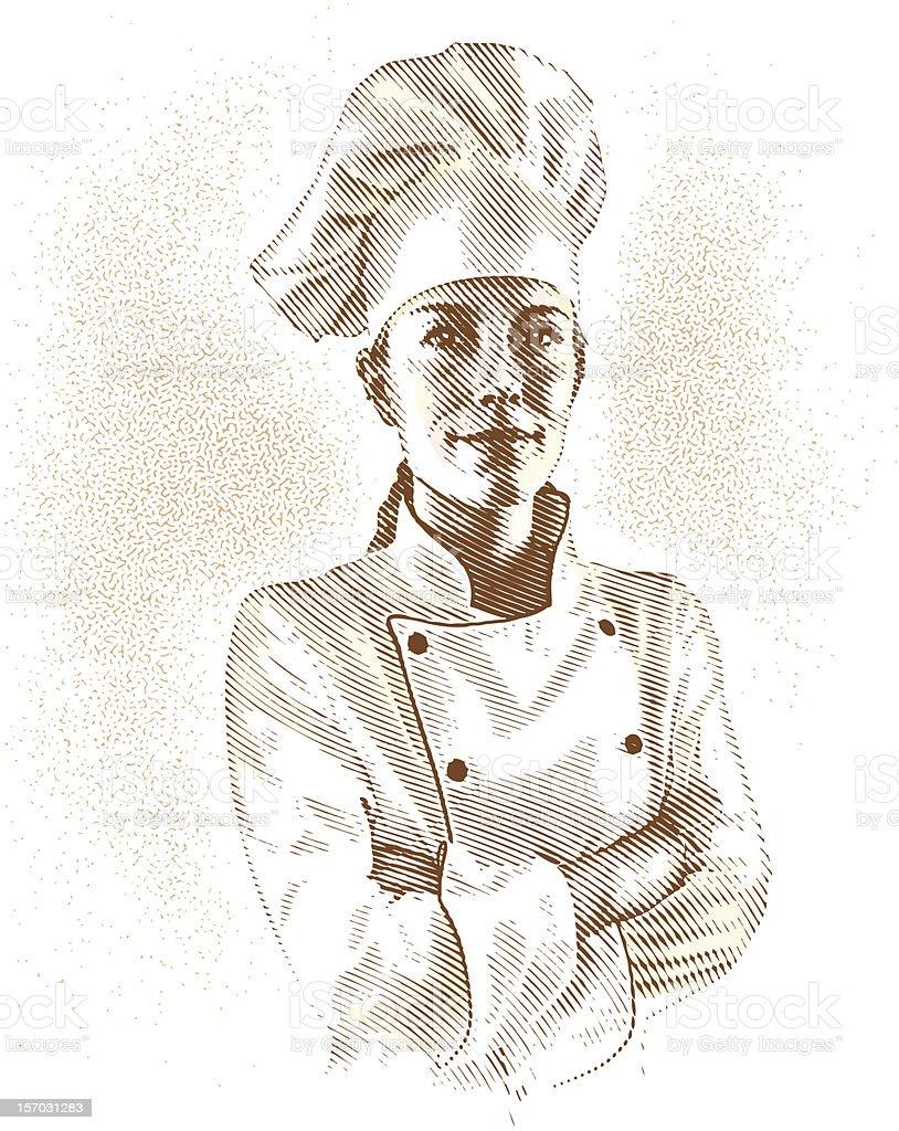 Portrait de Chef - Illustration vectorielle