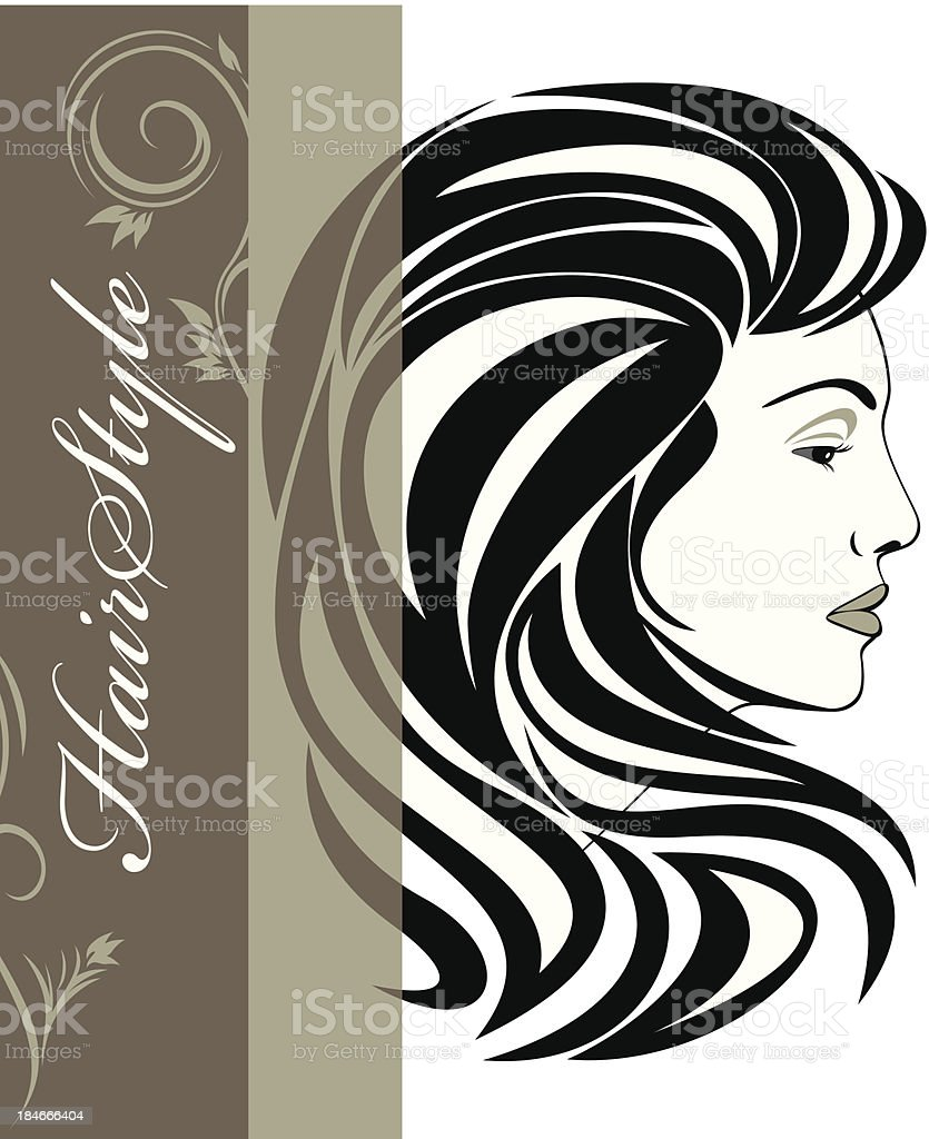 Portrait of elegant woman. Hairstyle banner royalty-free portrait of elegant woman hairstyle banner stock vector art & more images of adult