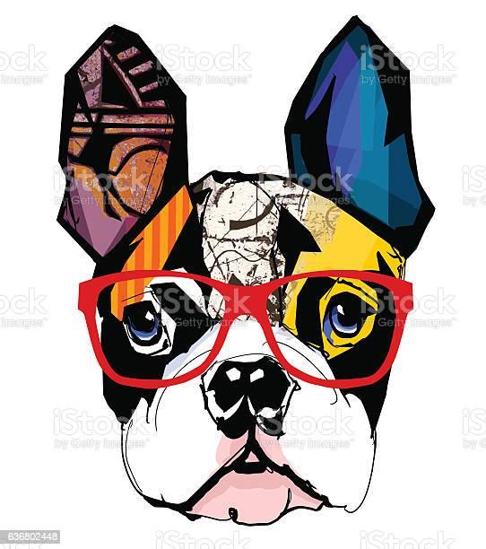 Portrait of french bulldog wearing sunglasses vector id636802448?b=1&k=6&m=636802448&s=612x612&h=wphugxwriiba5pnk3xlw3siilhm7sryfb7n c3y7pve=