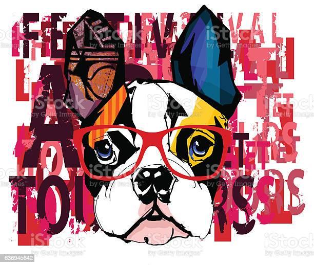 Portrait of french bulldog wearing sunglasses vector id636945642?b=1&k=6&m=636945642&s=612x612&h=8585ryr5yuzddgwgqihrqo827gi v rfk ivqicw6my=