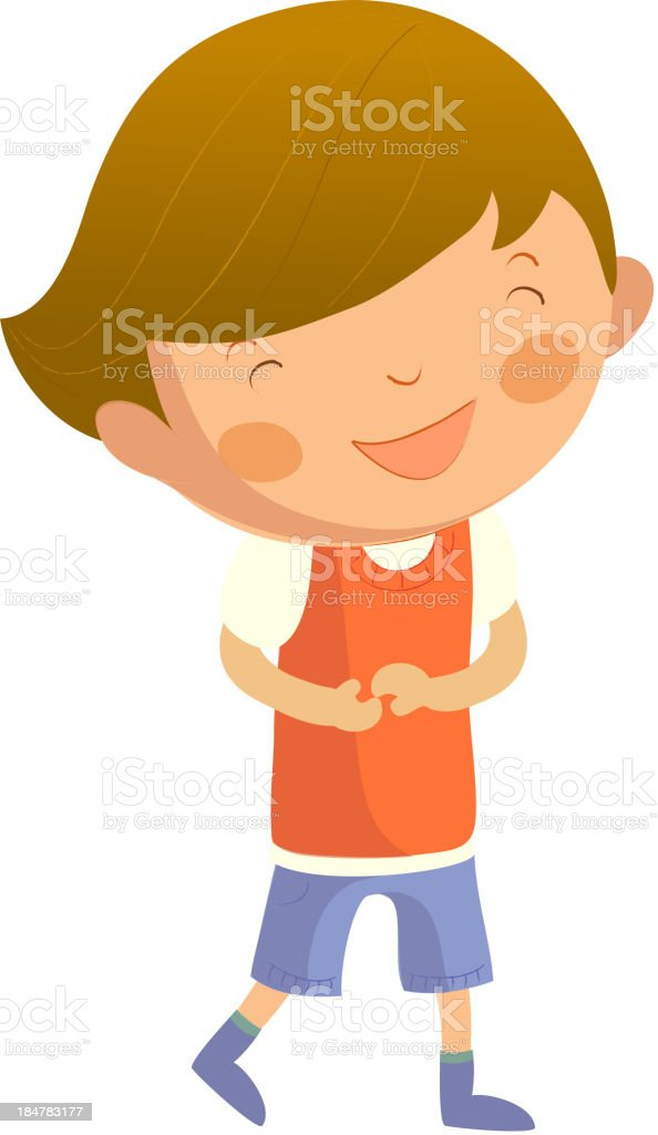Portrait of happy boy royalty-free portrait of happy boy stock vector art & more images of boys