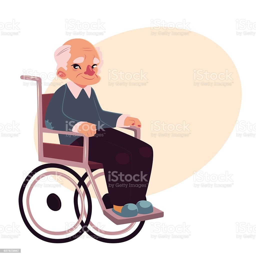 Image result for abstract of an old man on a wheelchair