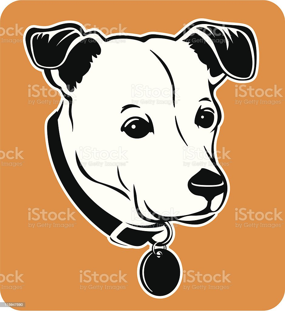 Portrait of My Dog royalty-free stock vector art