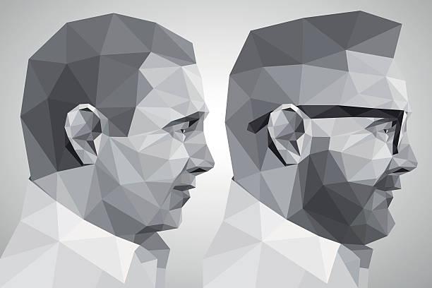 Porträt von zwei Männer – Vektorgrafik