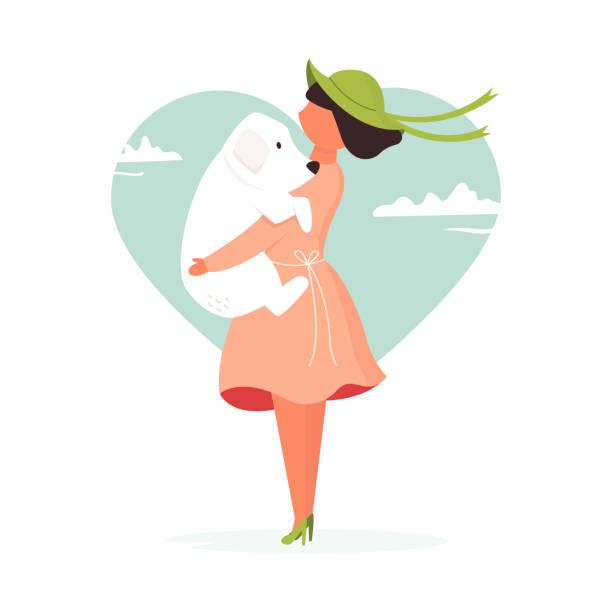illustrations, cliparts, dessins animés et icônes de verticale de jeune couple dans l'amour. embrasser les gens. illustration plate colorée de vecteur - femme seule s'enlacer