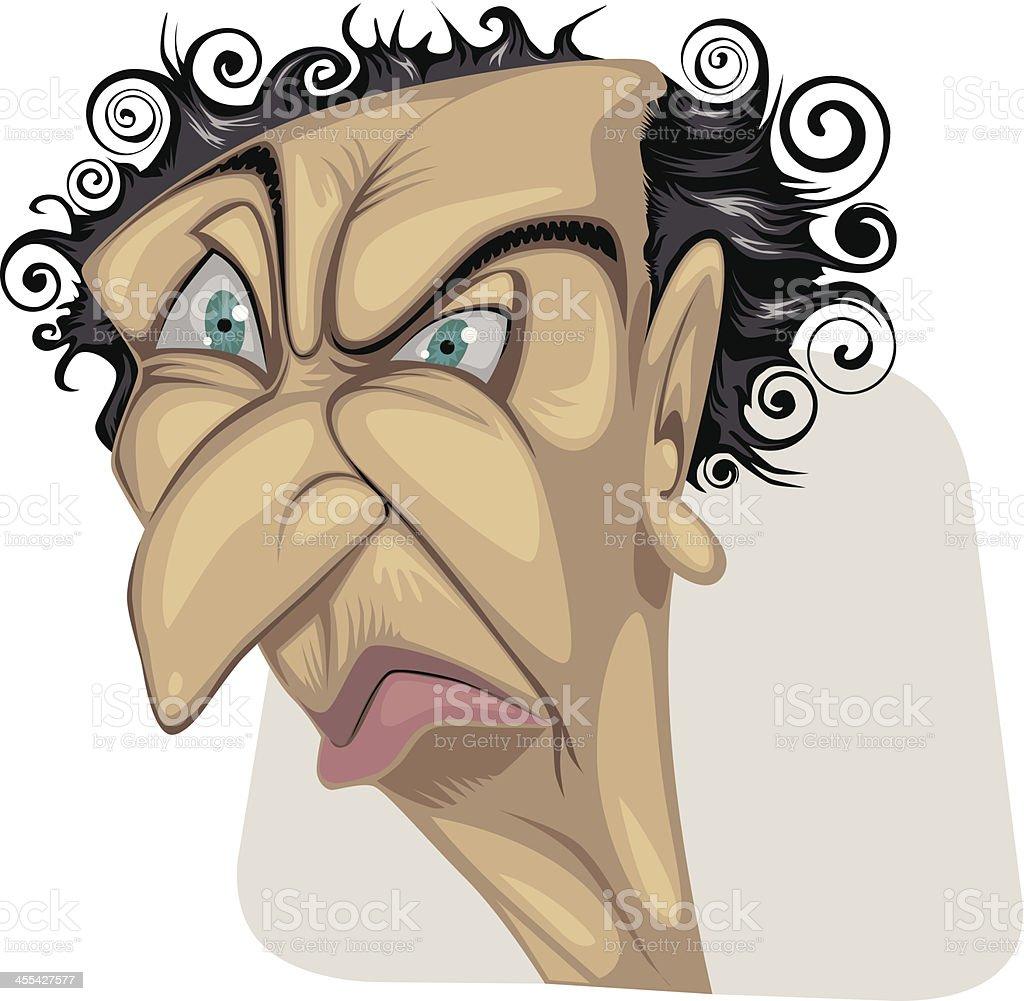 Portrait_old_man vector art illustration