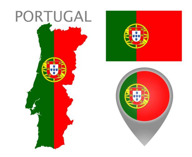 ilustrações de stock, clip art, desenhos animados e ícones de portugal 2 - mapa portugal