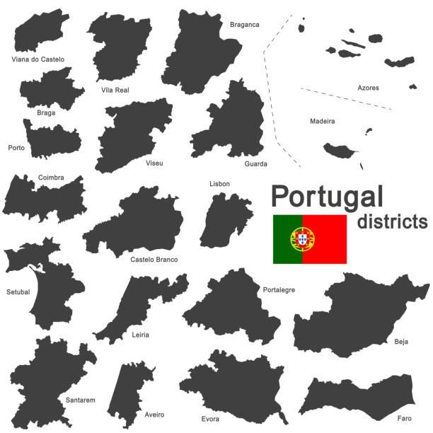 ilustrações de stock, clip art, desenhos animados e ícones de portugal e comarcas - vila real