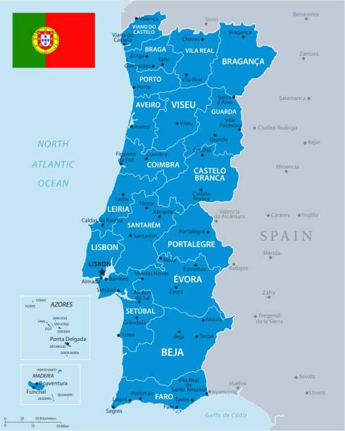 ilustrações de stock, clip art, desenhos animados e ícones de 33 - portugal - blue gray 10 - aveiro