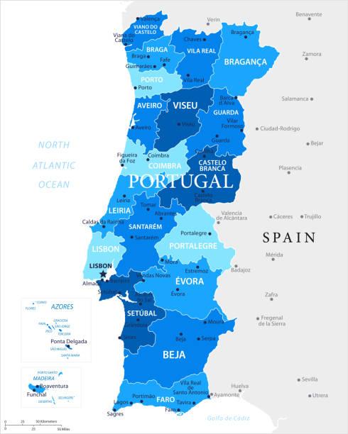 ilustrações de stock, clip art, desenhos animados e ícones de 03 - portugal - blue spot 10 - aveiro