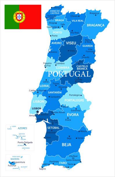 ilustrações de stock, clip art, desenhos animados e ícones de 04 - portugal - blue spot isolated 10 - aveiro