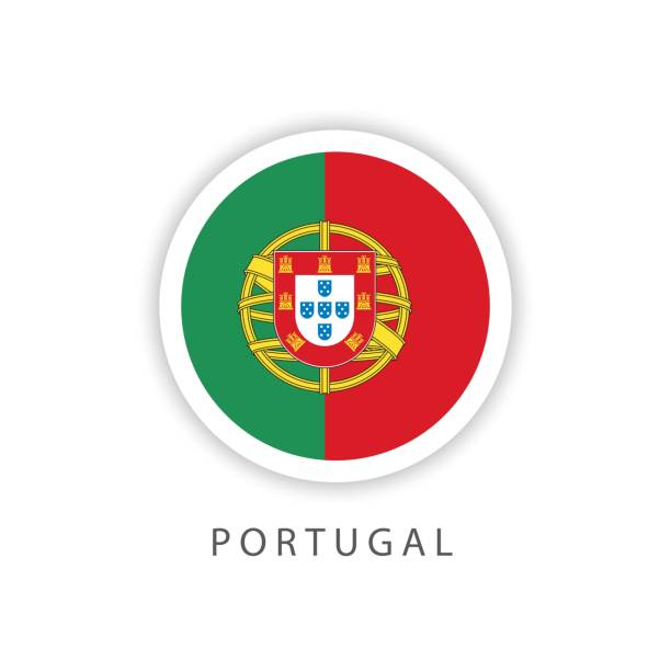 ilustrações de stock, clip art, desenhos animados e ícones de portugal button flag vector template design illustrator - portugal