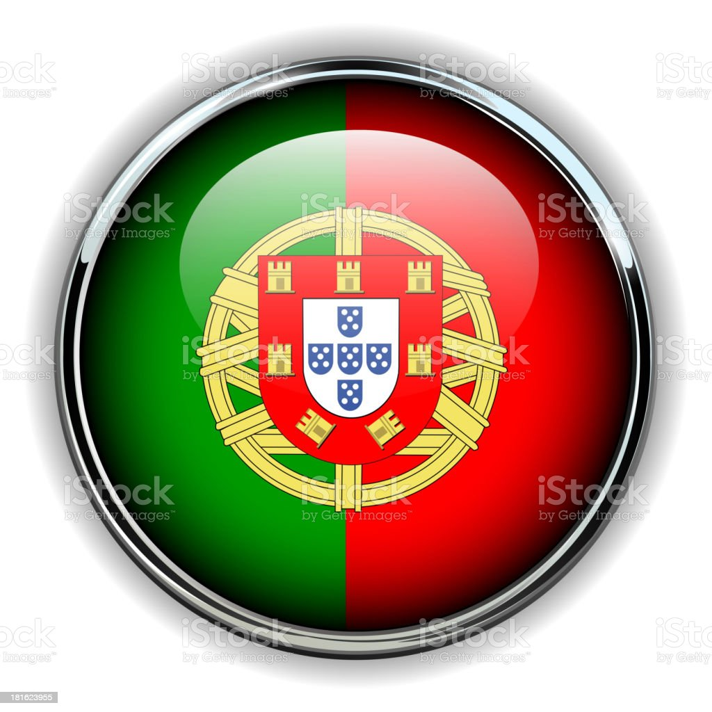 Portugal button royalty-free stock vector art