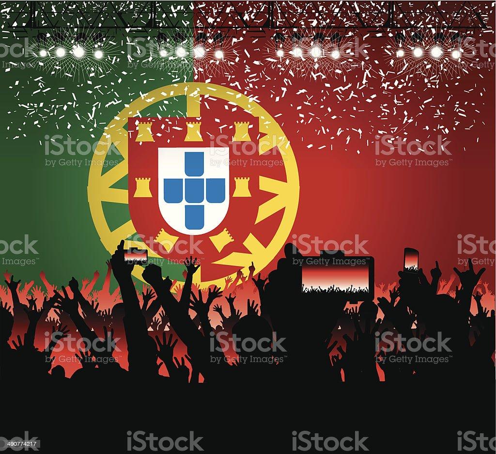 Portugal concert celebration royalty-free stock vector art