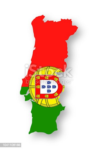Portugal - Contour Country Flag Vector Flat Icon