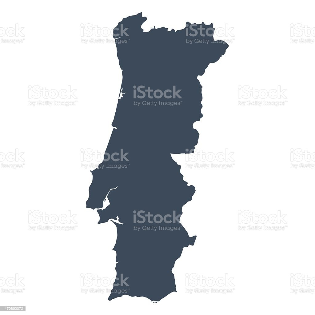 Portugal country map vector art illustration