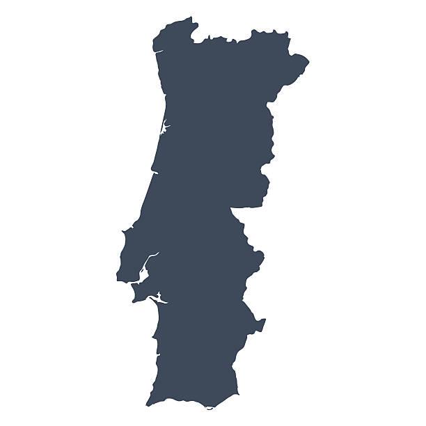 stockillustraties, clipart, cartoons en iconen met portugal country map - portugal