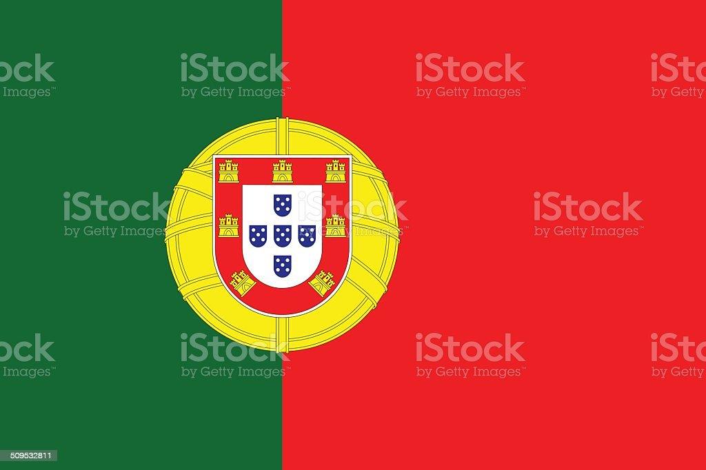Bandeira de Portugal - ilustração de arte vetorial