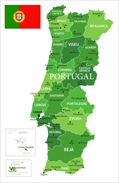 ilustrações de stock, clip art, desenhos animados e ícones de 15 - portugal - green isolated 10 - aveiro