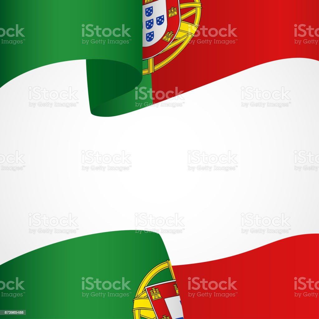 Portugal insignia on white - ilustração de arte vetorial