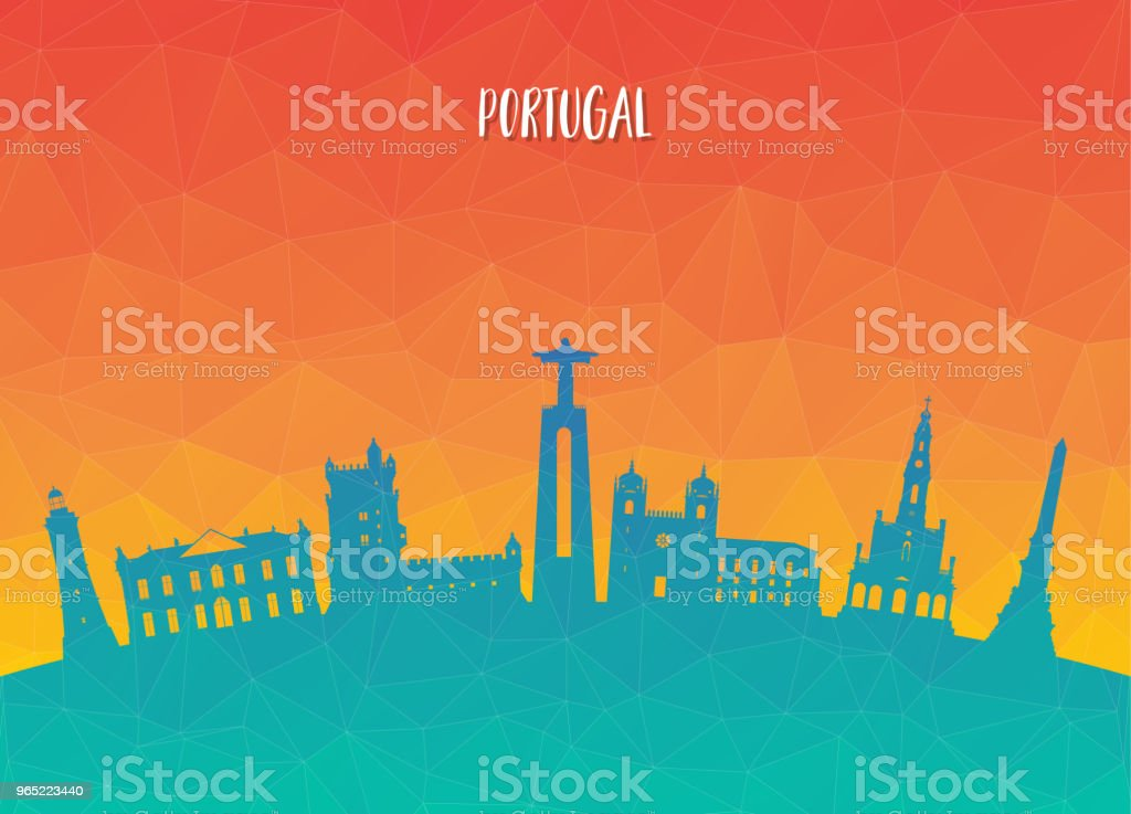 Portugal Landmark Global Travel And Journey paper background. Vector Design Template.used for your advertisement, book, banner, template, travel business or presentation. royalty-free portugal landmark global travel and journey paper background vector design templateused for your advertisement book banner template travel business or presentation stock vector art & more images of architecture