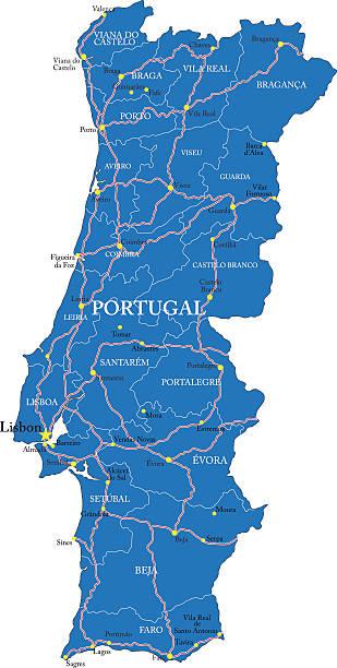 ilustrações de stock, clip art, desenhos animados e ícones de portugal mapa - algarve
