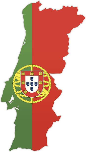 Portugal Mapa Vetores E Ilustrações RoyaltyFree IStock - Portugal mapa