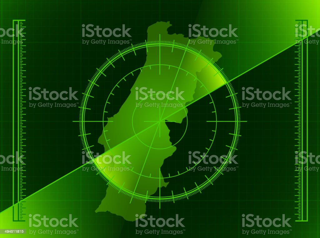 Portugal Radar World Map royalty free vector art royalty-free stock vector art