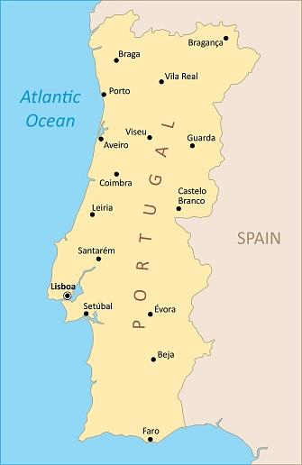 Portugal region map
