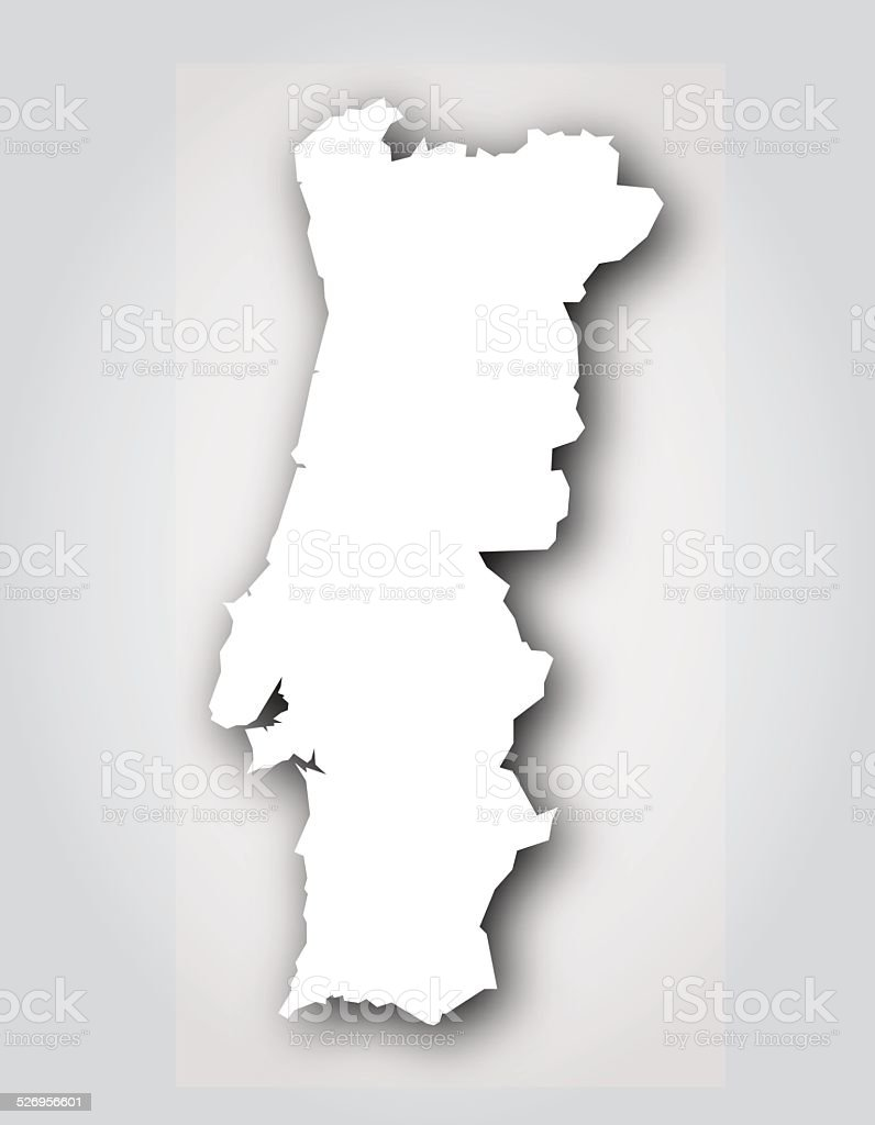 Portugal Silhouette White vector art illustration