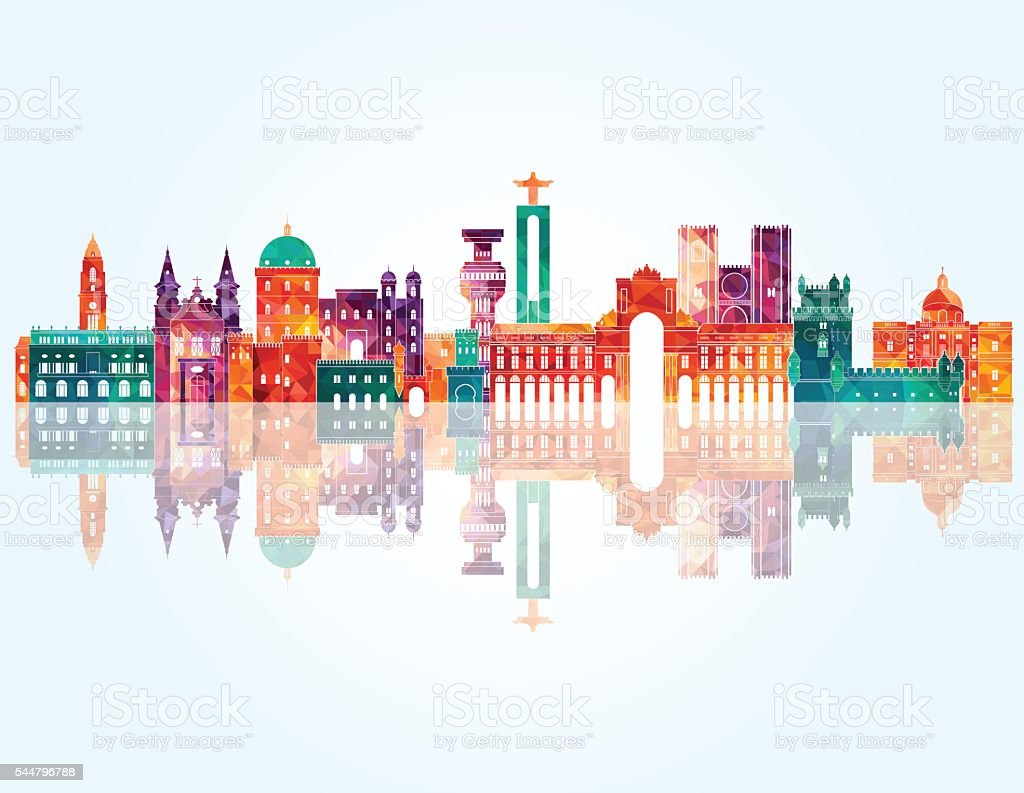 Portugal skyline. Vector illustration vector art illustration
