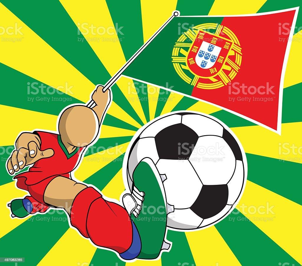 Portugal  soccer player vector cartoon royalty-free stock vector art