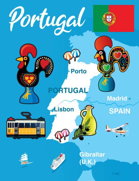 Portugal - ilustração de arte vetorial